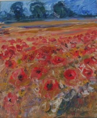 Poppies painting by artist Robert BOTTOM