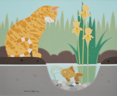 The Cat and the Gold Fish