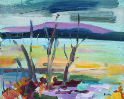 Trees by Loch Lomond Study