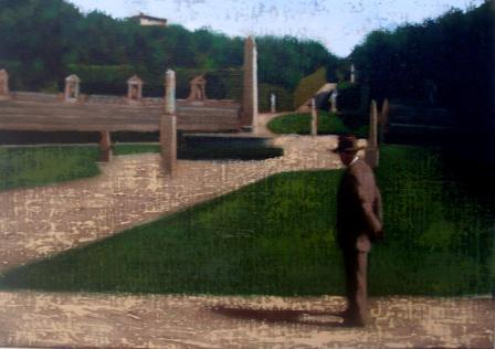 Irish Artist Brian SMYTH - Man in the Italian Garden