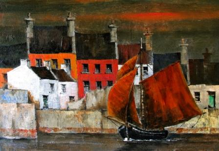Irish Artist Val BYRNE - Leaving Roundstone