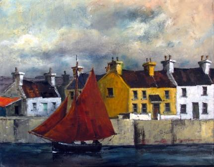Irish Artist Val BYRNE - Leaving Kilronan