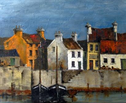 Irish Artist Val BYRNE - Dingle Harbour