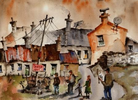 Irish Artist Val BYRNE - No to Pylons in Dugort