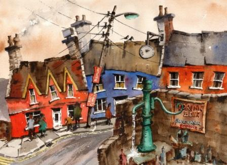 Irish Artist Val BYRNE - Drink Beer, Save Water in Eyeries