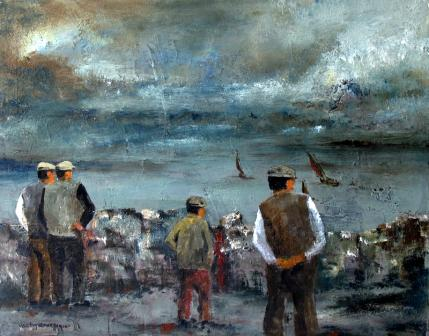 Irish Artist Val BYRNE - A View From Aran