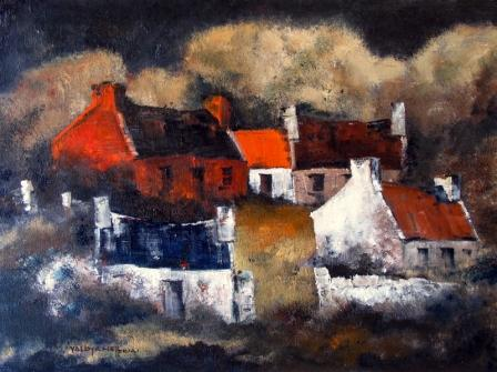 Irish Artist Val BYRNE - West Of Ireland Farm