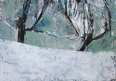 Winter Orchard painting by artist Cormac O'LEARY